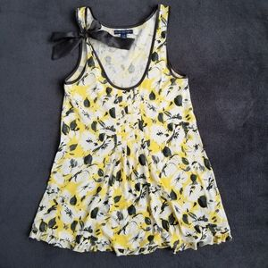 American Eagle Outfitters floral front pleated blouse with bow